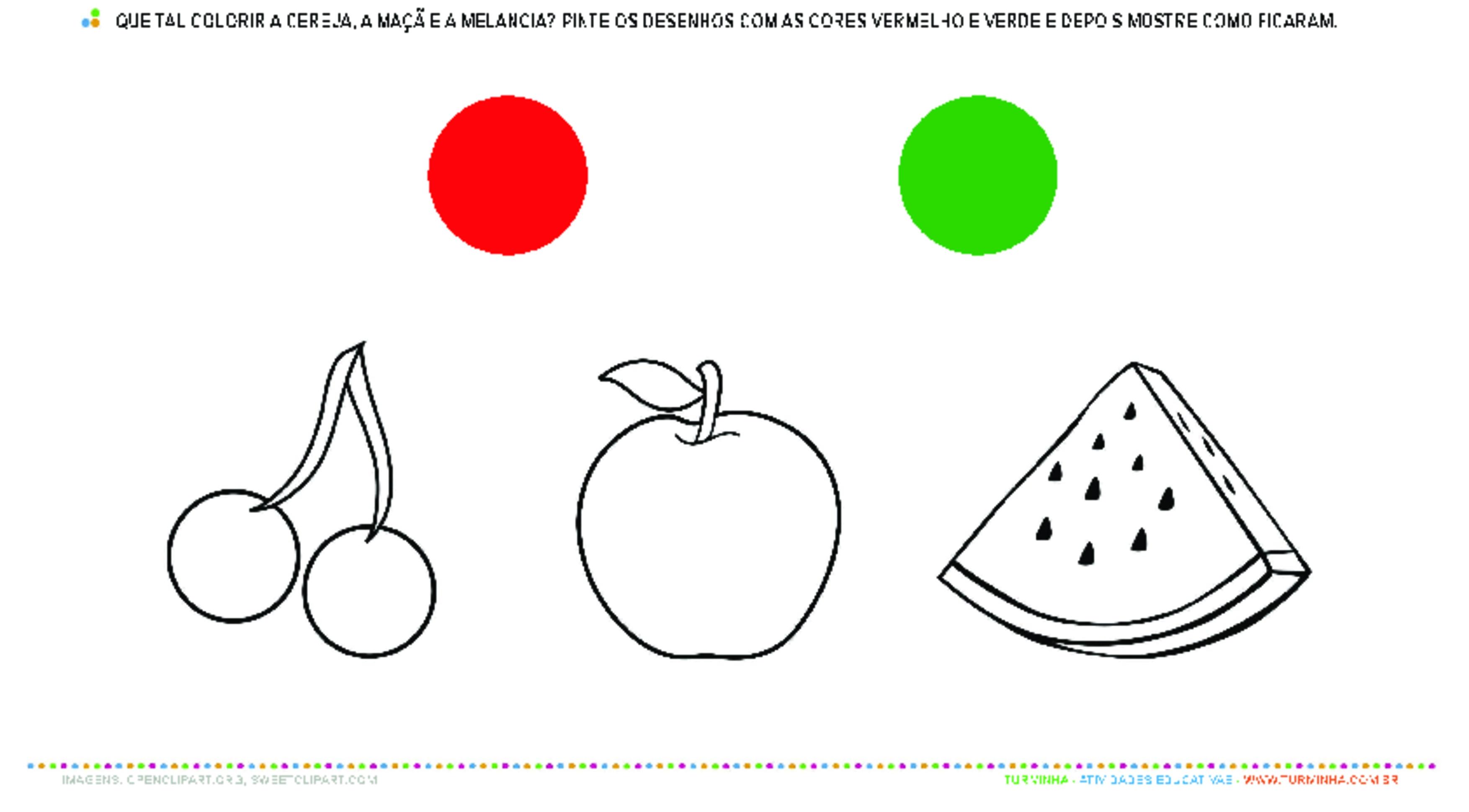 Identificando cores - atividade educativa para Creche (0 a 3 anos)