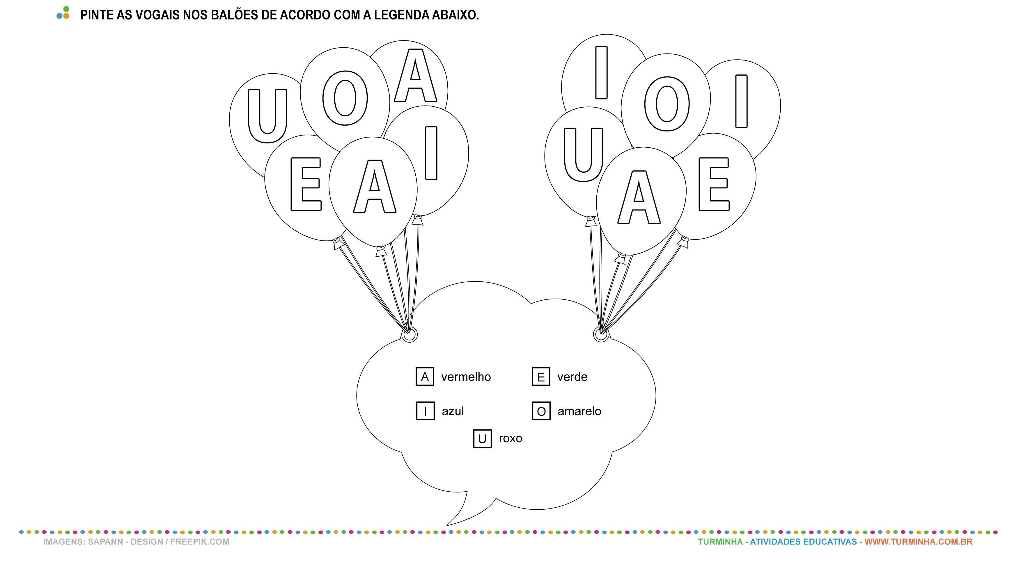 As vogais - atividade educativa para Pré-Escola (4 e 5 anos)