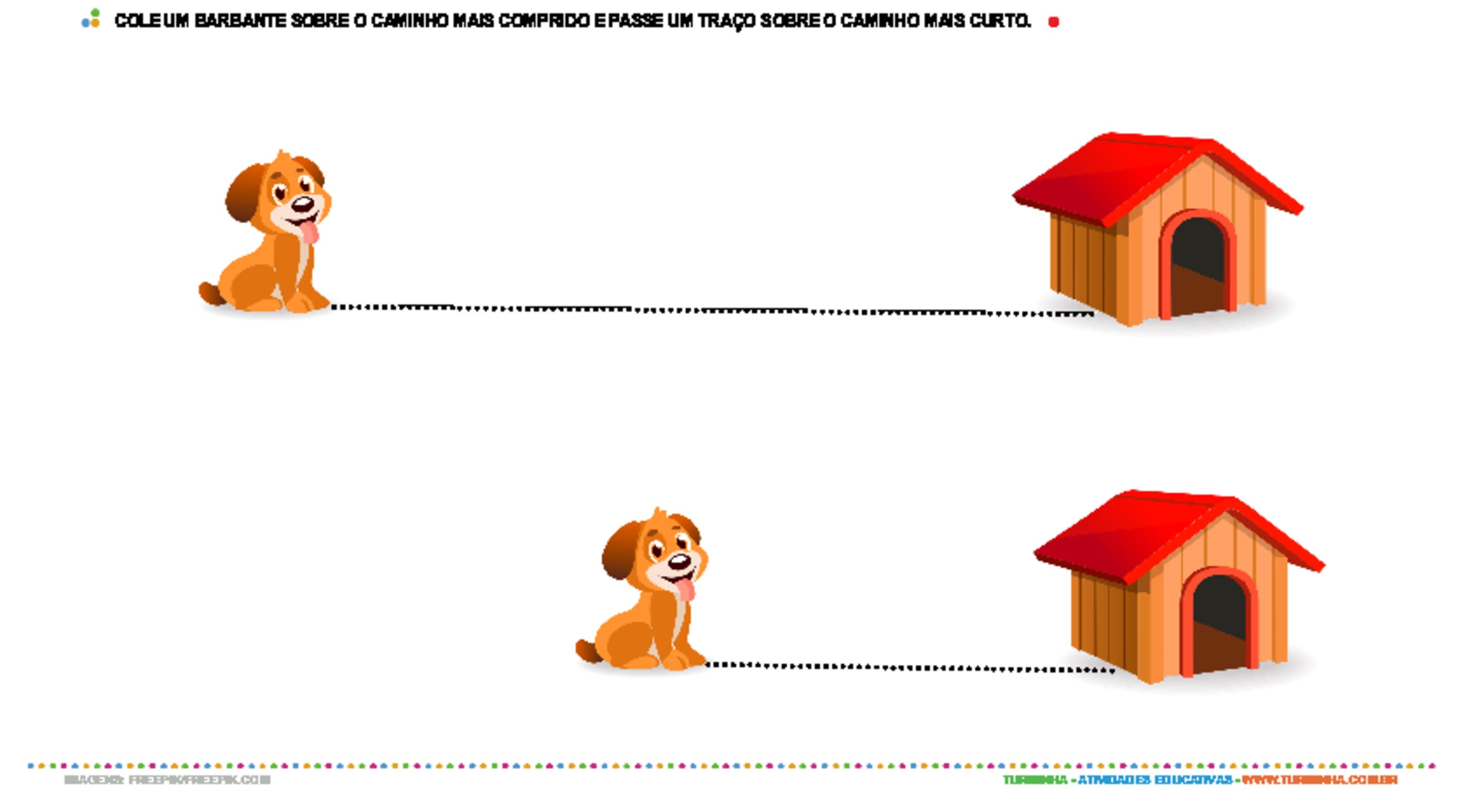Curto ou Comprido - atividade educativa para Creche (0 a 3 anos)