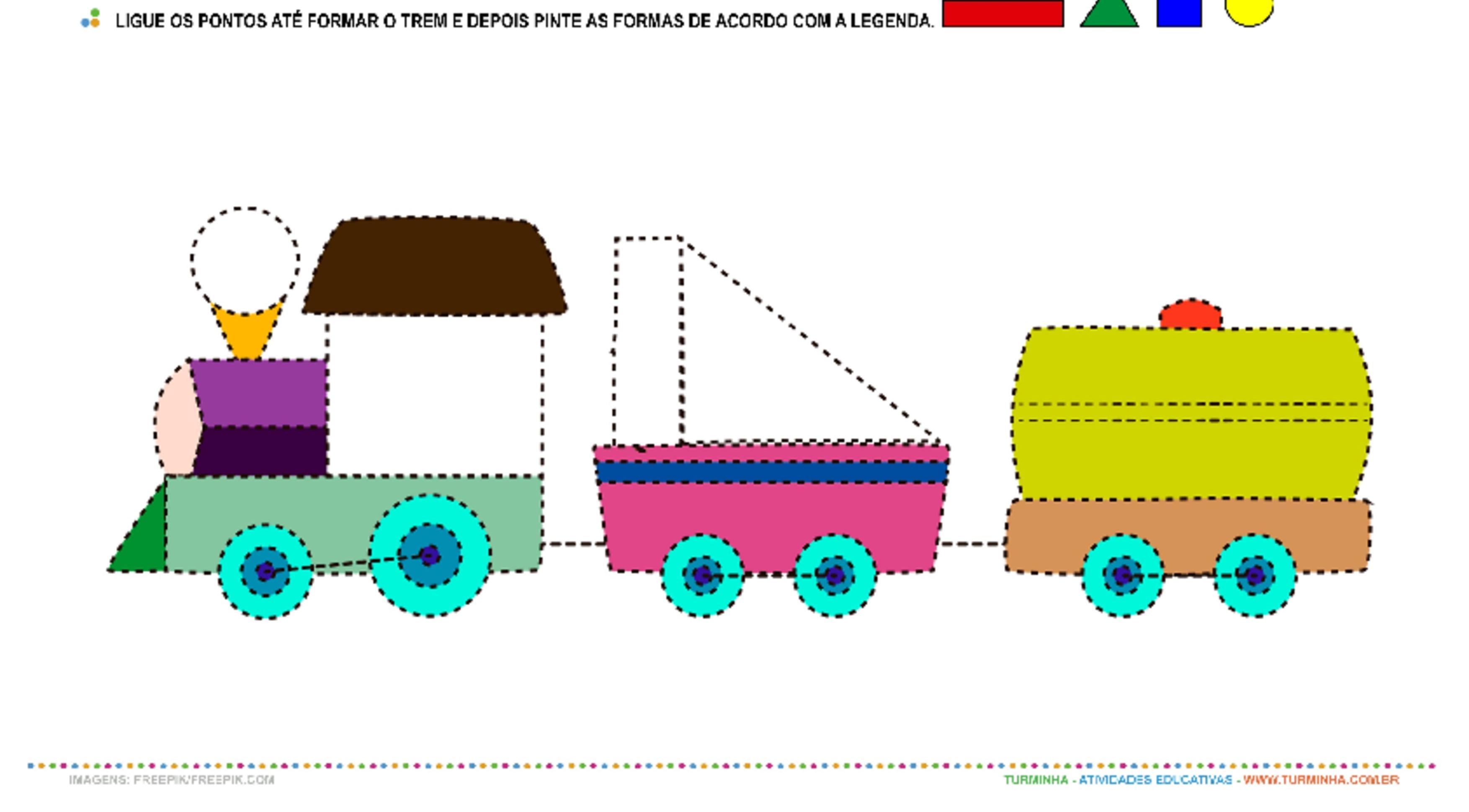 Meio de Transporte - O Trem - atividade educativa para Pré-Escola (4 e 5 anos)
