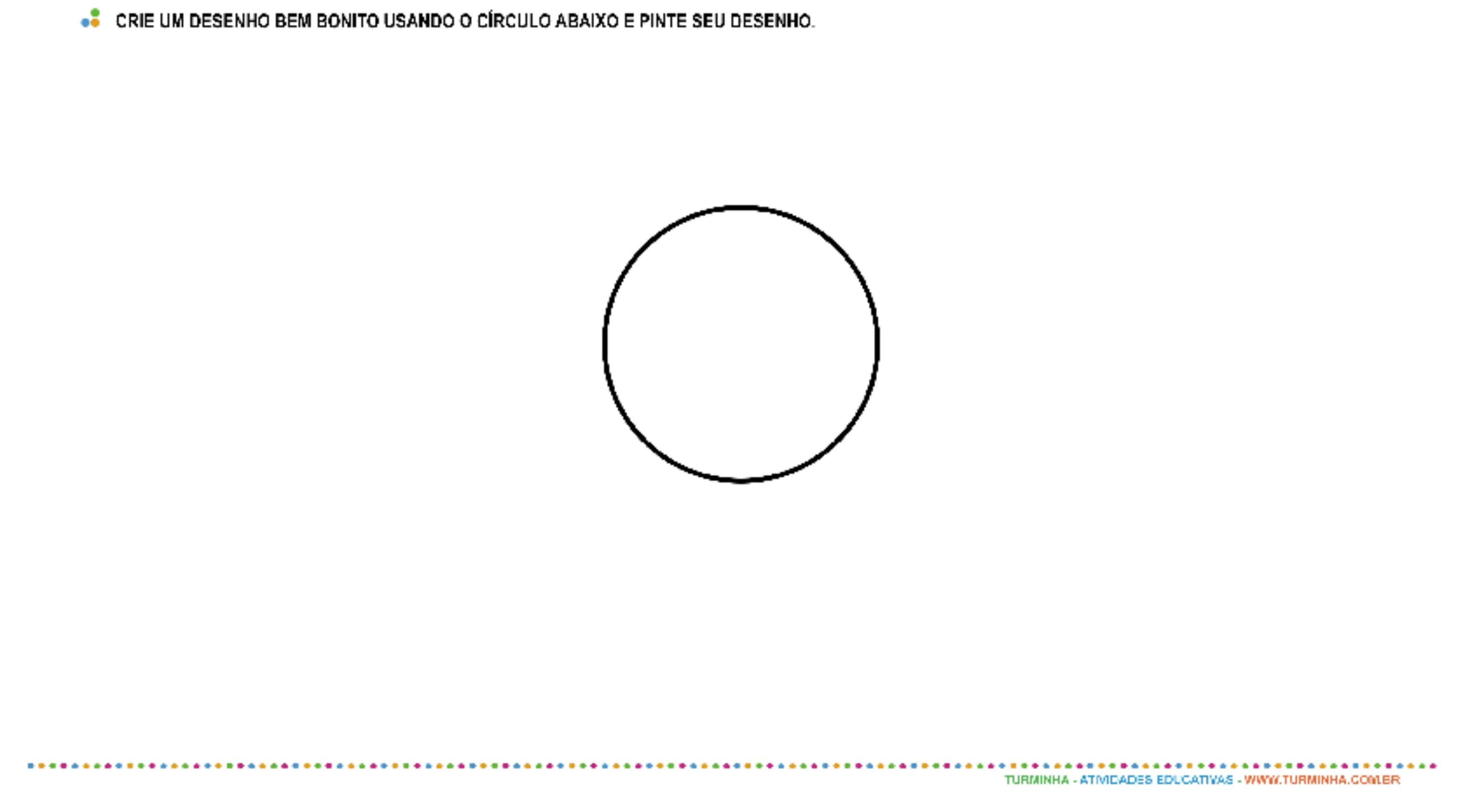 Formas Geométricas - Círculo - atividade educativa para Pré-Escola (4 e 5 anos)