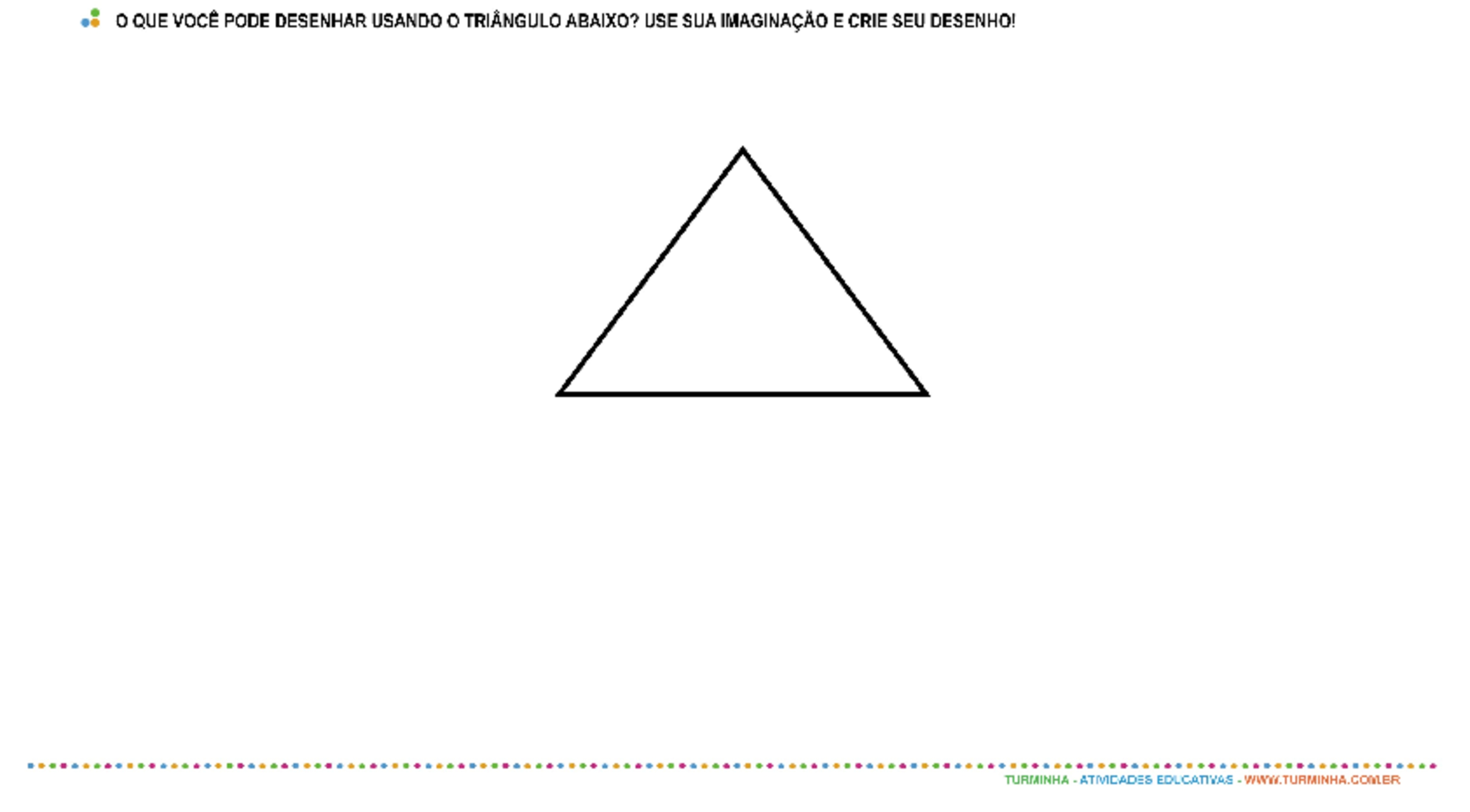 Formas Geométricas - Triângulo - atividade educativa para Pré-Escola (4 e 5 anos)
