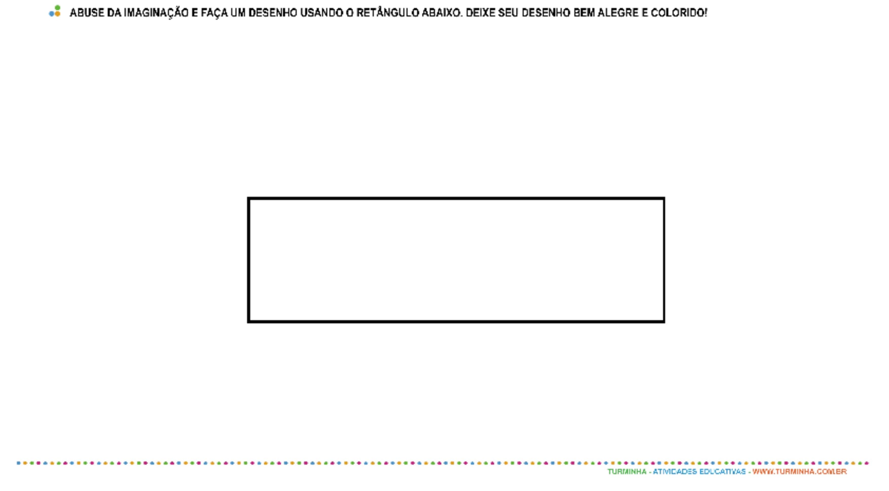 Formas Geométricas - Retângulo - atividade educativa para Pré-Escola (4 e 5 anos)