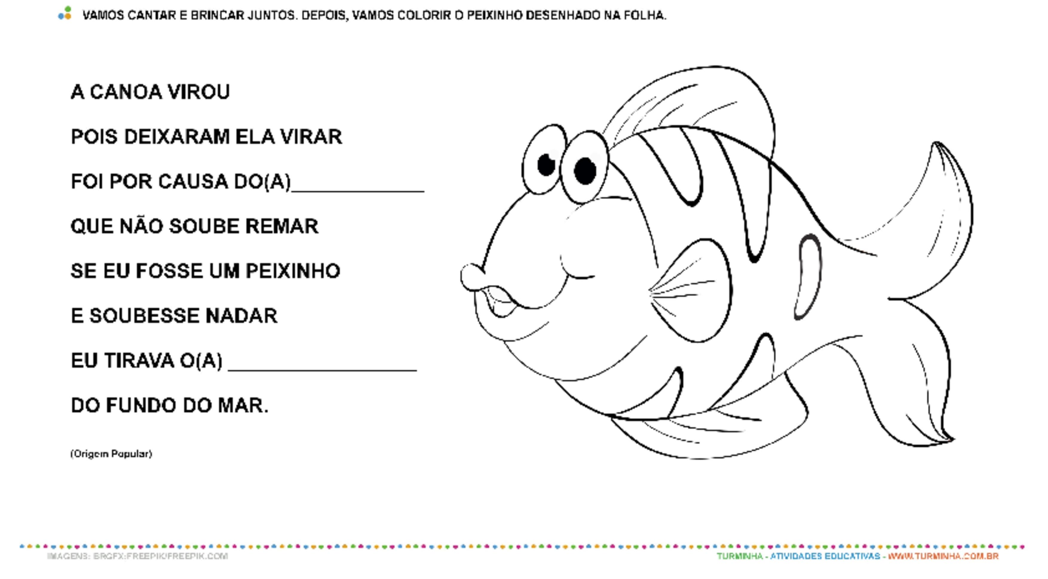 A Canoa Virou - Pintura - atividade educativa para Creche (0 a 3 anos)
