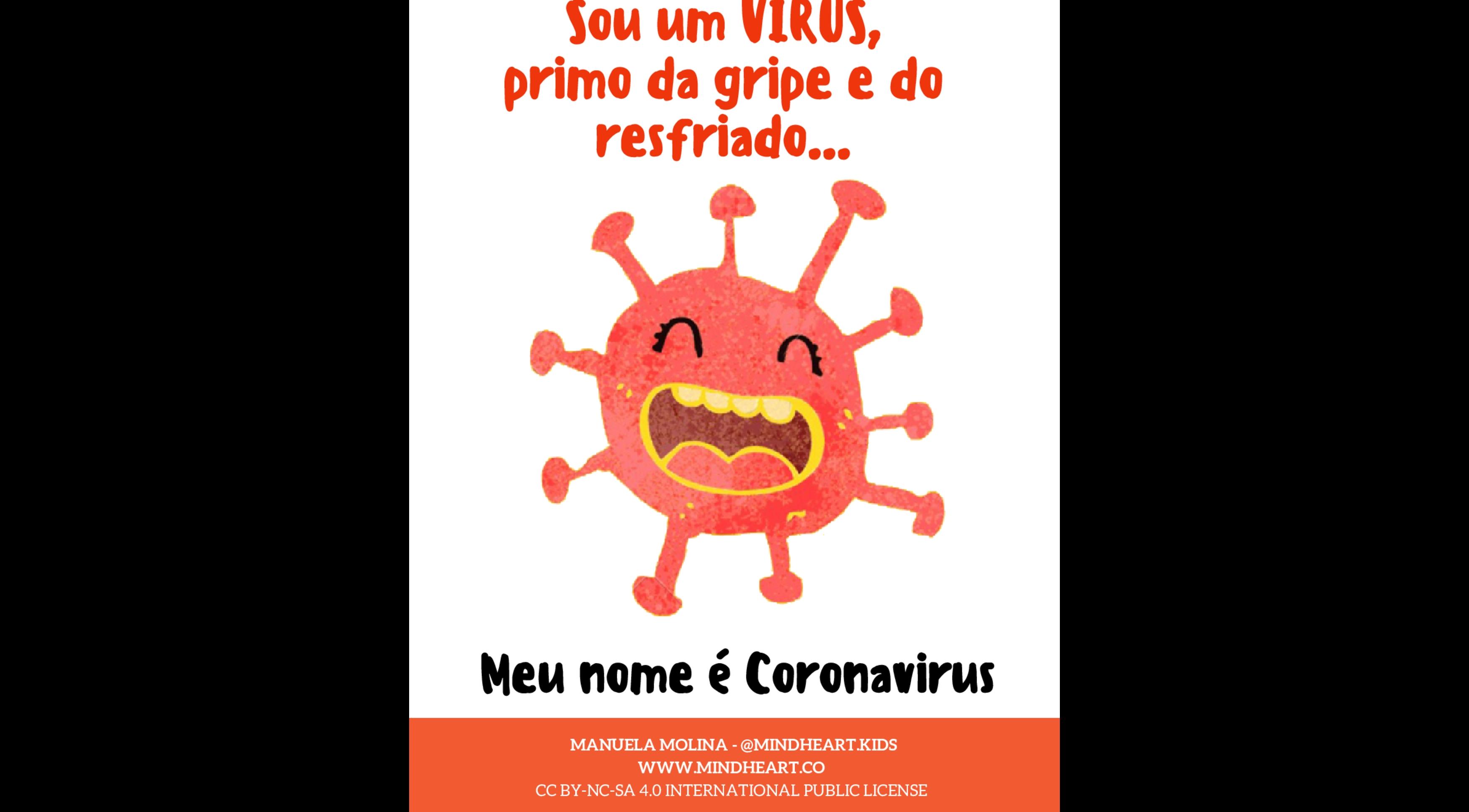Coronavírus - Cartilha Explicativa - atividade educativa para Pré-Escola (4 e 5 anos)