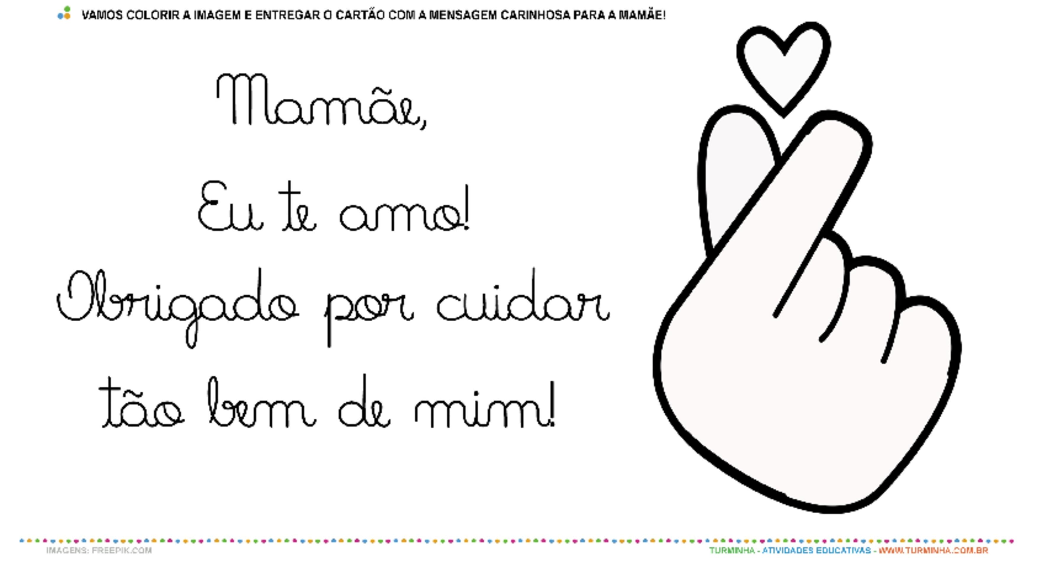 Um Cartão de Amor para a Mamãe – Pintura e Colagem - atividade educativa para Creche (0 a 3 anos)