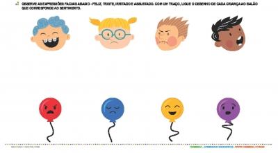 Expressoes De Sentimentos Atividade Educativa Para Creche 0 A 3
