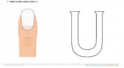 """A Unha e a vogal """"U"""" – Pintura"""