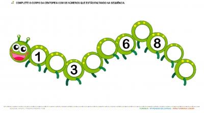 A Centopeia e os Números