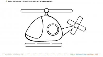 Vamos colorir o helicóptero – Pintura