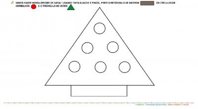 Árvore de Natal de Formas Geométricas
