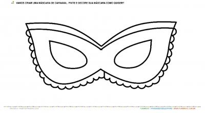 Máscara de Carnaval - Pintura e Colagem