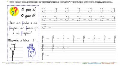 """A Letra """"F"""" Cursiva - Caligrafia"""