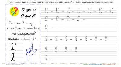"""A Letra """"L"""" Cursiva - Caligrafia"""