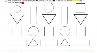 Formas Geométricas - Observação e Pintura