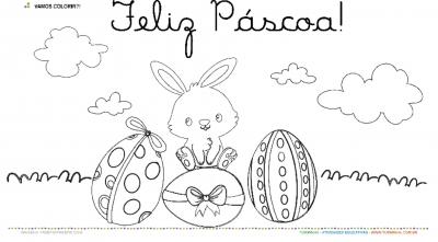Cartão de Páscoa - Pintura