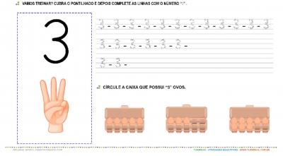"""O Número """"3"""" – Caligrafia"""