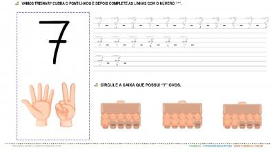 """O Número """"7"""" - Caligrafia"""
