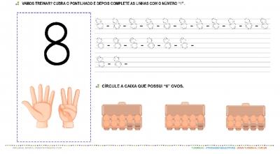 """O Número """"8"""" – Caligrafia"""